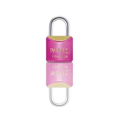 Cadeado com Chave 20mm Latão Rosa Color Line Papaiz