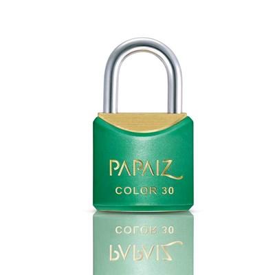 Cadeado com Chave 30mm Latão Verde Color Line Papaiz