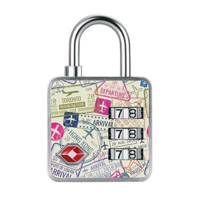 Cadeado com Segredo de 35mm Passaporte TSA 3 Dígitos Papaiz