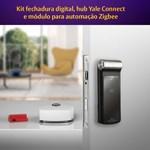 COMBO - Fechadura Digital YDF 30 RL abre com APP, Senha, Cartão - Trinco Rolete