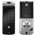 COMBO - Fechadura Digital YDF 40 com APP, Biometria, Senha - Trinco Lingueta Tubular