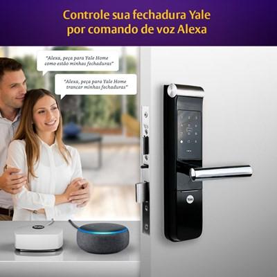 COMBO - Fechadura Digital YMF 30 abre com APP, Senha e Cartão - Trinco Lingueta e Reversível