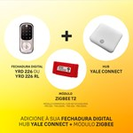 COMBO - Fechadura Digital YRD 226 abre com Aplicativo e Senha - Trinco Lingueta Tubular