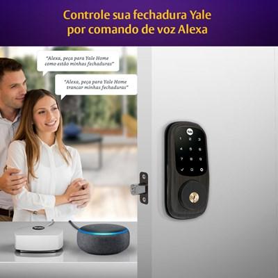 COMBO - Fechadura Digital YRD 226 Petróleo abre com APP e Senha