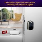 COMBO - Fechadura Digital YRD 256 RL abre com APP e Senha - Trinco Rolete