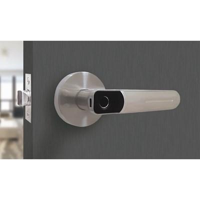 Fechadura Digital com Biometria de Embutir SL130 Prata - (Sem Instalação) PAPAIZ