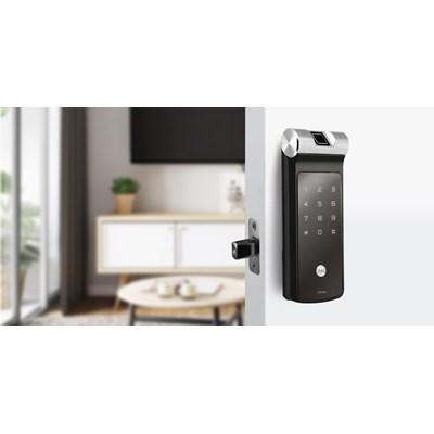 Fechadura Digital YDF 40 com Biometria e Senha - Trinco Lingueta Tubular