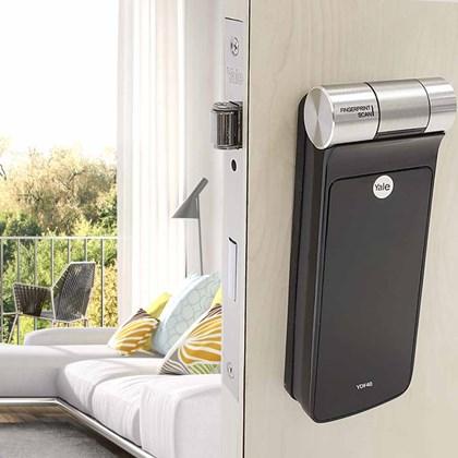 Fechadura Digital YDF 40 RL com Biometria, Senha - Trinco Rolete