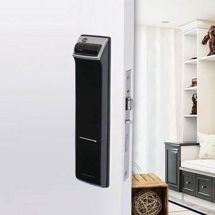 Fechadura Digital YDM 4109 RL abre com Biometria e Senha - Trinco rolete e Lingueta