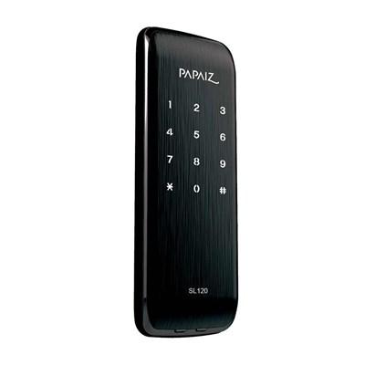 Fechadura Eletrônica Smart Lock de Sobrepor SL120 Preto Fosco Papaiz