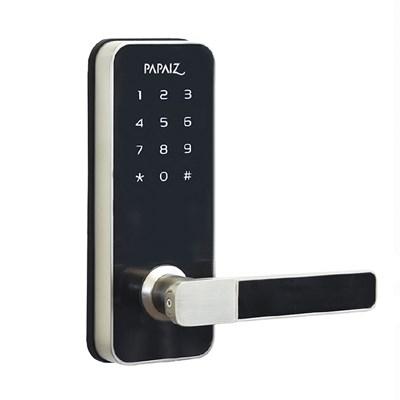 Fechadura Eletrônica Smart Lock Embutida Prata Direita SL100 Papaiz