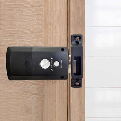 Fechadura EletrônicaSmart Lock de Sobrepor SL120 Preto Fosco Papaiz
