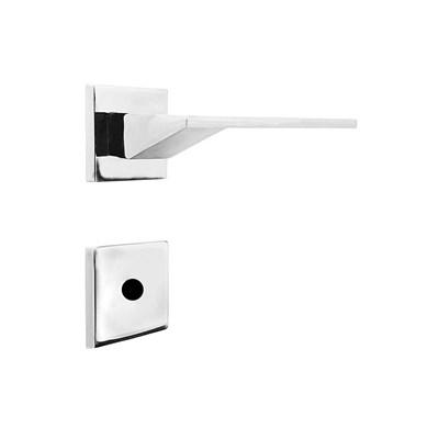 Fechadura para Porta de Banheiro Cromada 55mm com Roseta MZ940 Design Papaiz