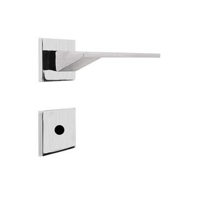 Fechadura para Porta de Banheiro Cromo Acetinado 55mm com Roseta MZ940 Design Papaiz