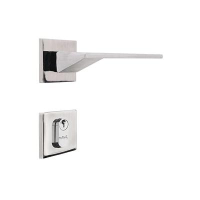 Fechadura para Porta de Entrada Cromo Acetinado 55mm com Roseta MZ940 Design Papaiz