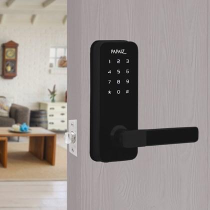 Fechadura Smart lock embutida preta - Direita (SL100) - PAPAIZ
